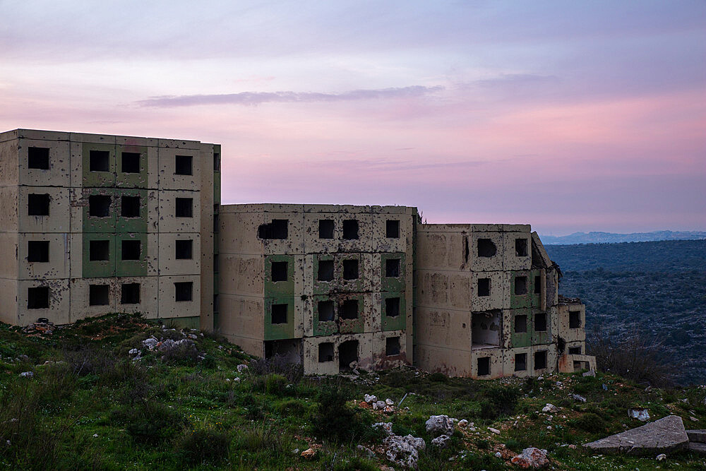 War Ruins in Lebanon during sunset in Spring 2019. Situated near Jezzine. - 1304-96