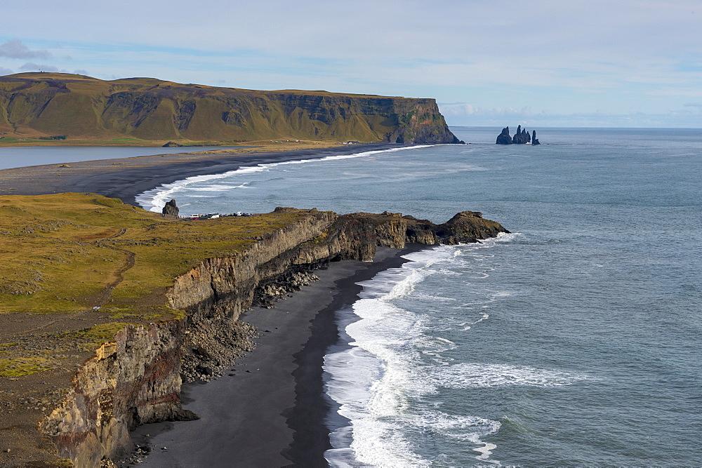 The Reynisdrangar coastline and Sea Stacks, Reynisfjara, Vik, Iceland