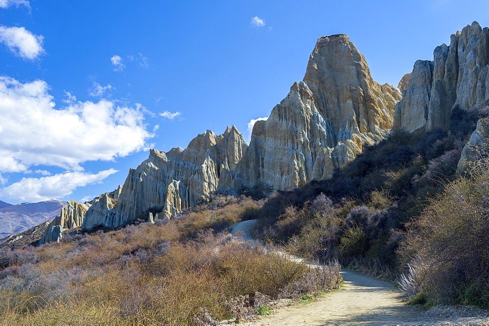 Clay Cliffs, Omarama, Canterbury, South Island, New Zealand, Pacific