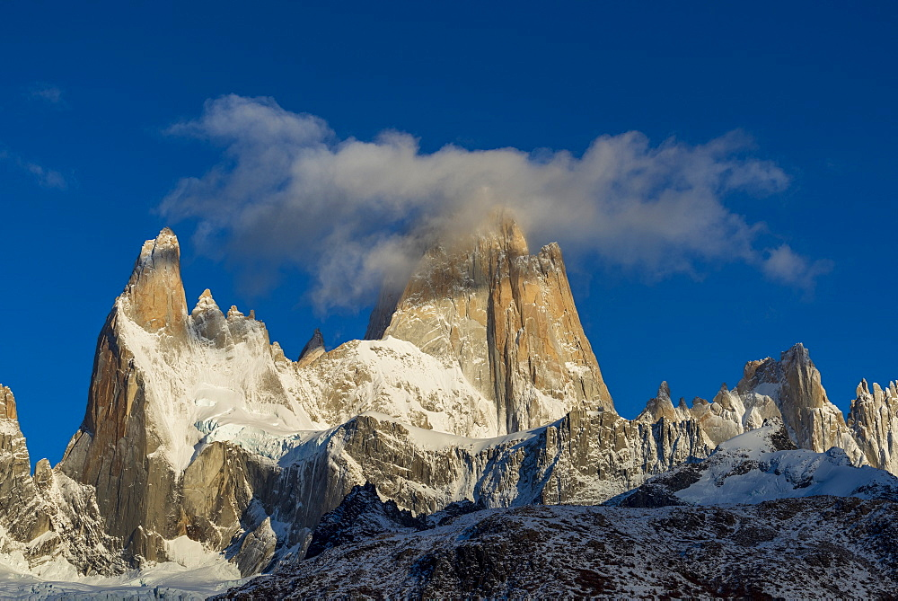 Mount Fitz Roy and Cerro Torre, Los Glaciares National Park, UNESCO World Heritage Site, Patagonia, Argentina, South America