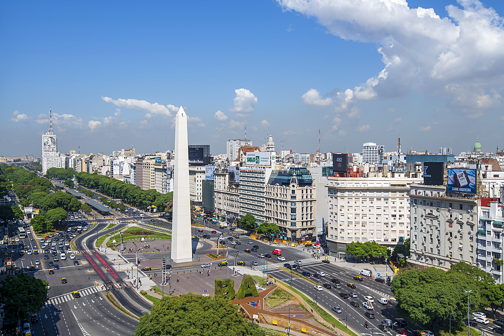 Obelisco on 9 de Julio Avenue, Buenos Aires, Argentina, South America