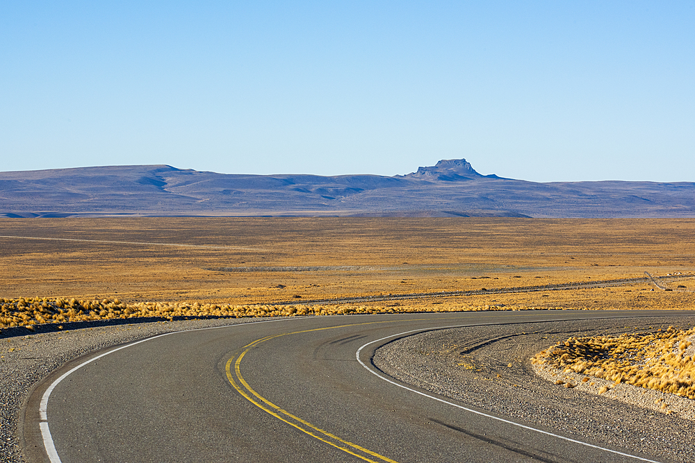 Road passing through a landscape, National Route 40, Patagonia, Argentina, South America