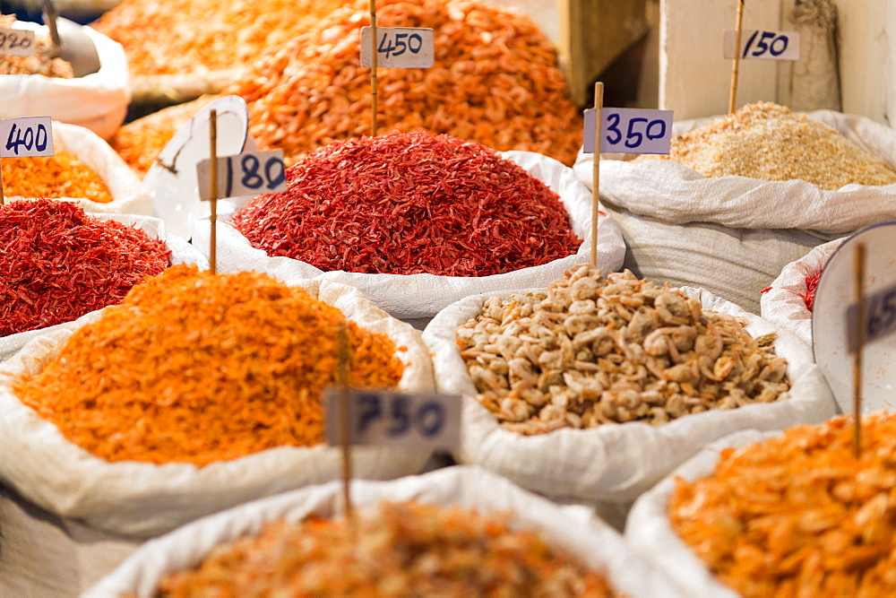 Spice and fruit display, Bangkok, Thailand, Southeast Asia, Asia