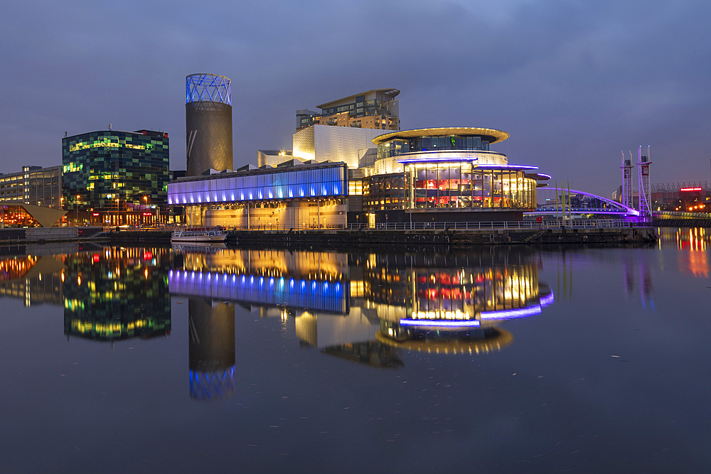 The Lowry Theatre at MediaCity UK, Salford Quays, Manchester, England, United Kingdom, Europe