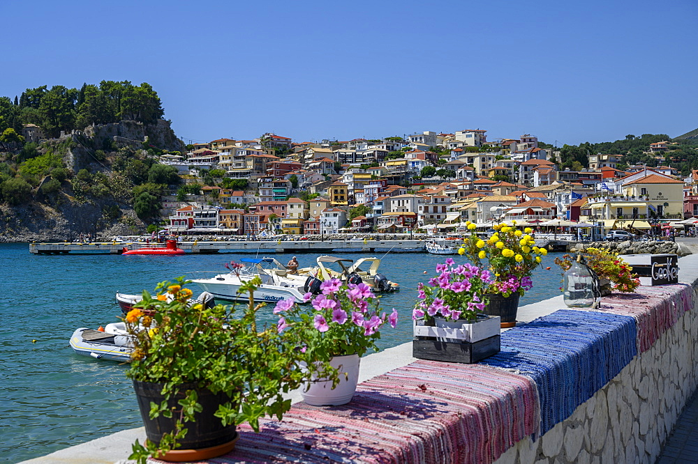The colourful town of Parga, Parga, Preveza, Greece, Europe