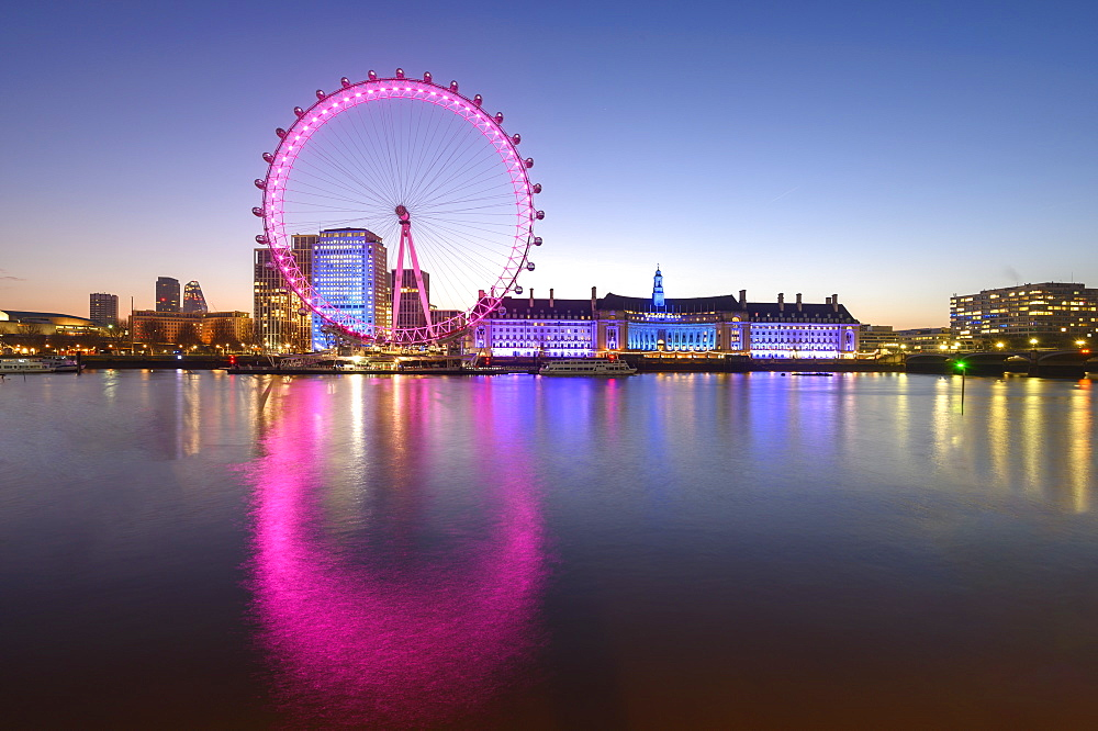 The London Eye, a ferris wheel on the South Bank of the River Thames, London, England