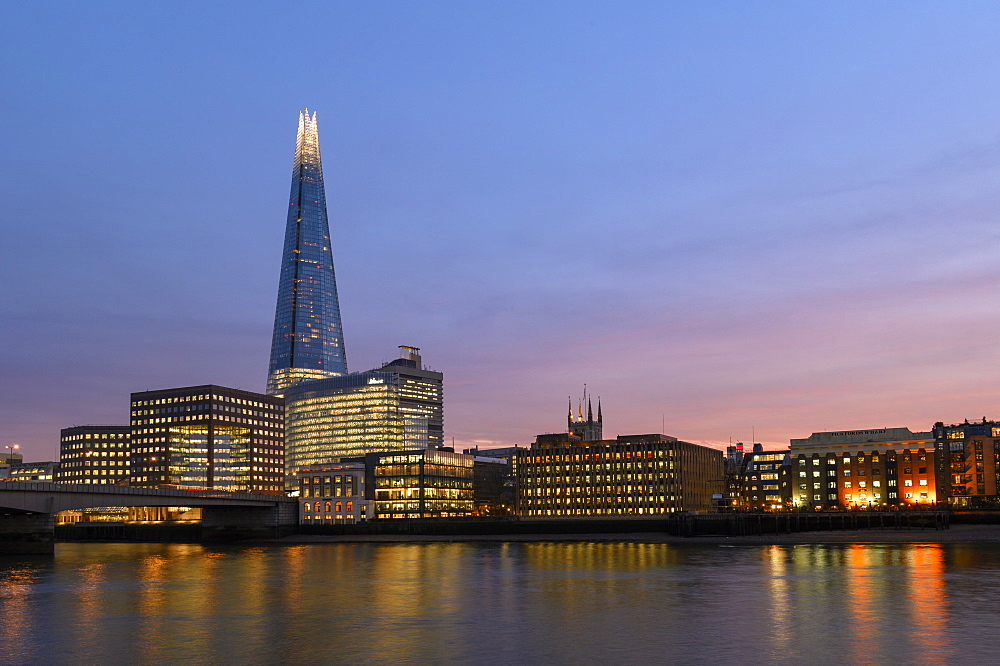 The Shard at sunset, London, England, United Kingdom, Europe