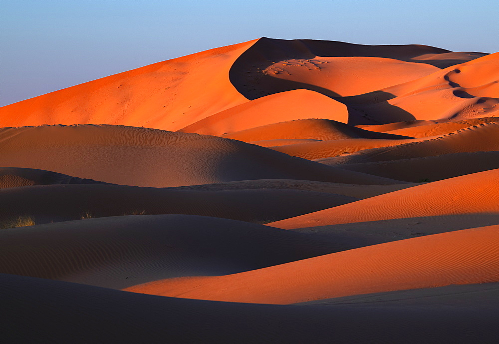 Sand dunes in the Sahara Desert, Morocco, North Africa, Africa