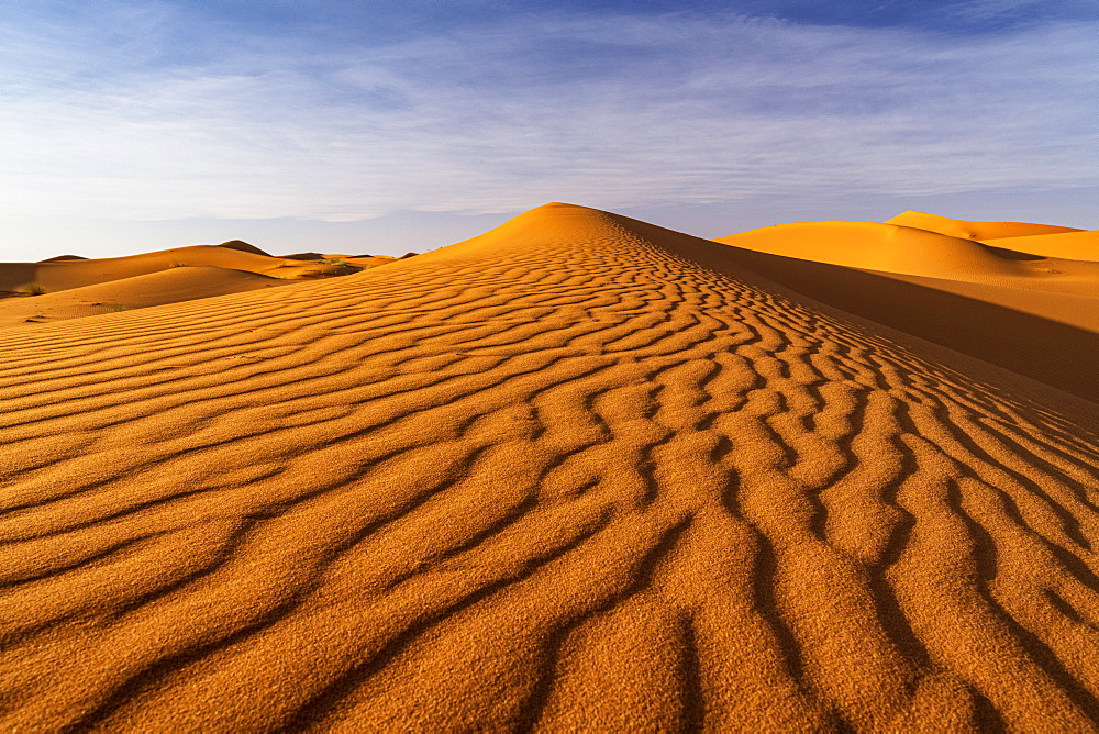 Ripples in sand dunes, Sahara Desert, Morocco, North Africa