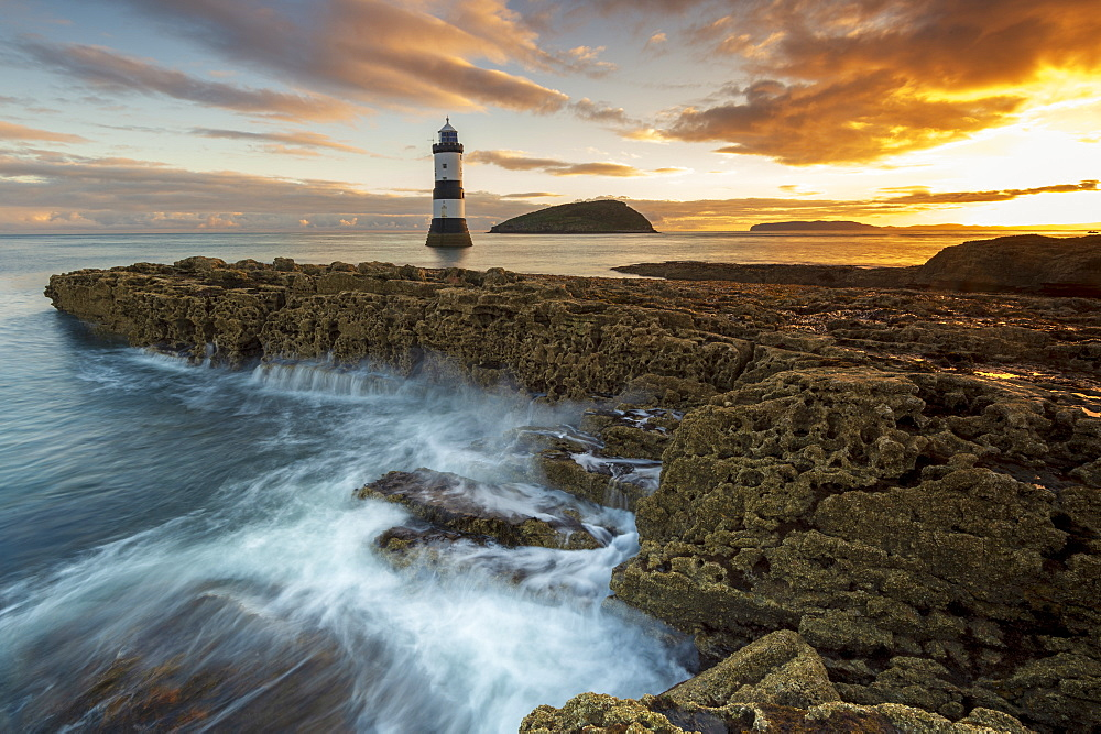 Penmon Point lighthouse, Anglesey, North Wales, United Kingdom, Europe