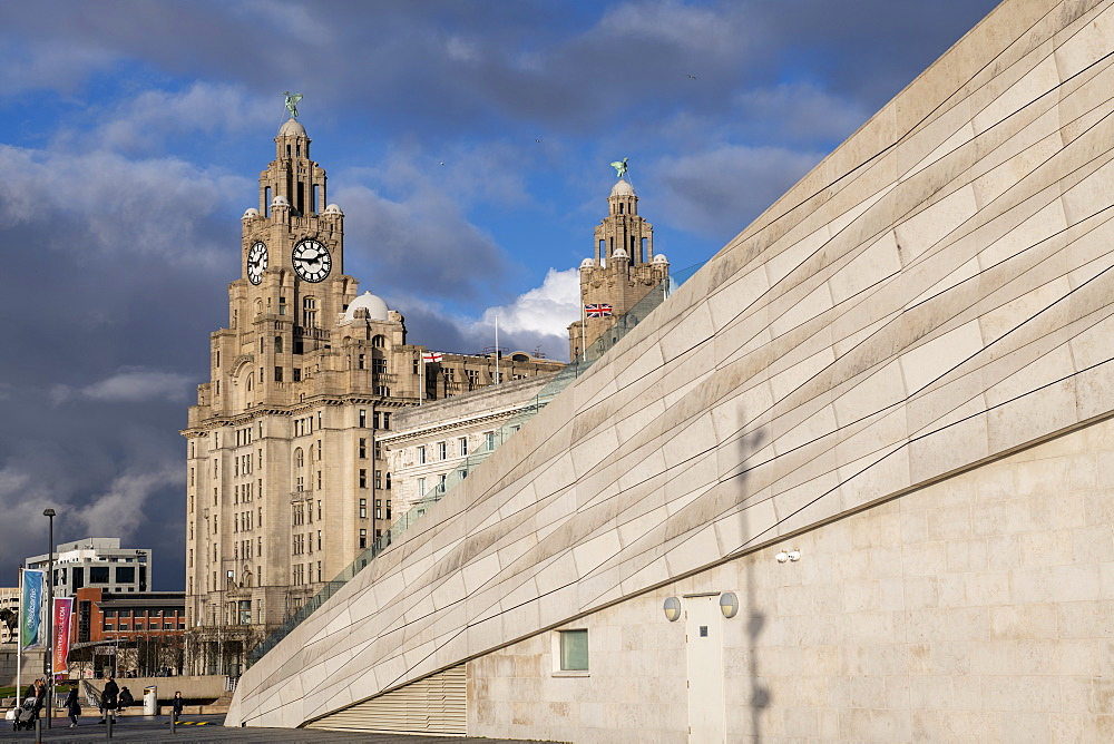 The iconic Liver Building at the Pier Head, UNESCO World Heritage Site, Liverpool, Merseyside, England, United Kingdom, Europe - 1306-782