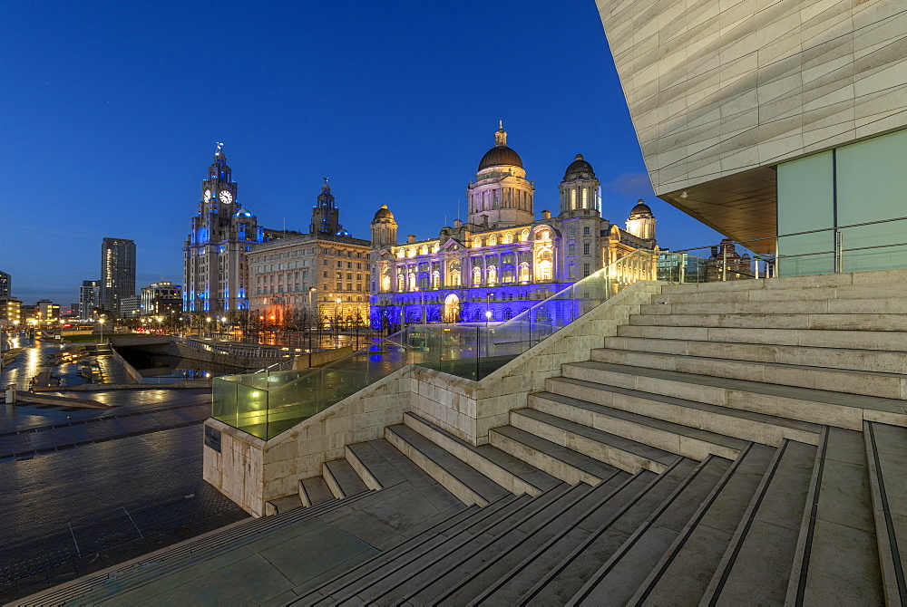 The Liverpool Waterfront, UNESCO World Heritage Site, Liverpool, Merseyside, England, United Kingdom, Europe - 1306-785
