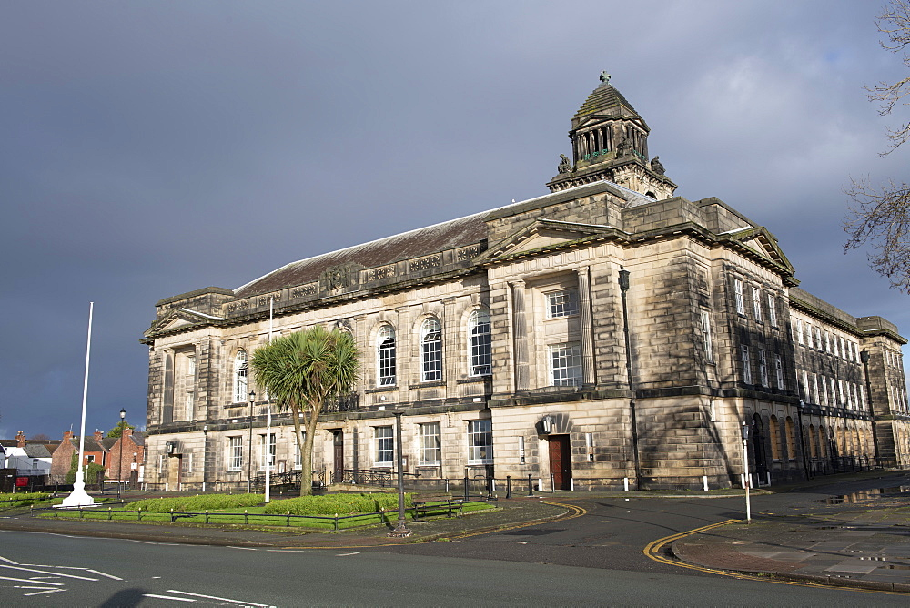 Wallasey Town Hall, Wirral Merseyside. River Mersey waterfront, Liverpool, Merseyside, England, United Kingdom, Europe - 1306-793