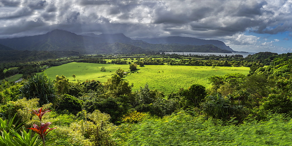 Hanalei, on north east coast of Kauai, Hawaii, United States of America