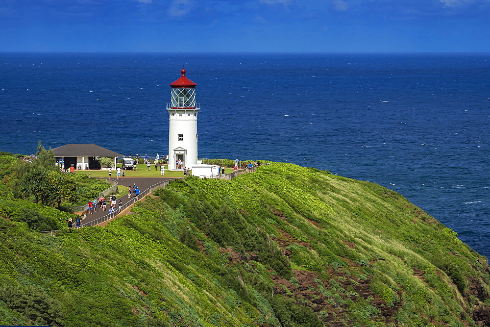 Kilauea Lighthouse, Kilauea Point, north east coast of Kauai, Hawaii, United States of America