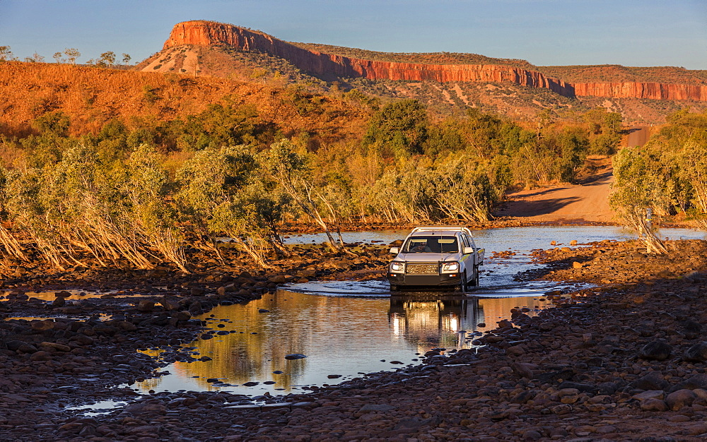 Crossing the Pentacost River near Home valley, Kununurra, Western Australia