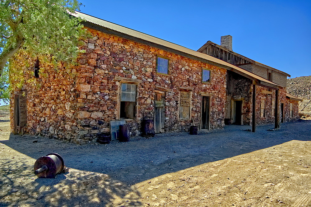 The Assay Office in the ghost town of Vulture City Arizona. Currently being restored as a historical landmark. Near Wickenburg.