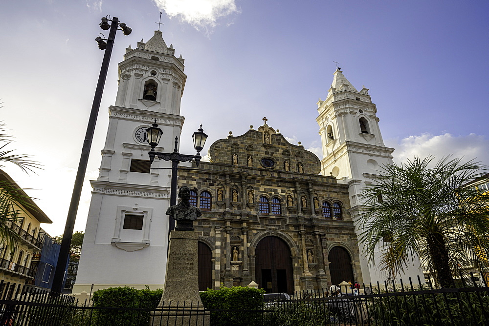 The Panama Metropolitan Cathedral in Independence Square located in the heart of the historic district in Panama City, Panama, Central America