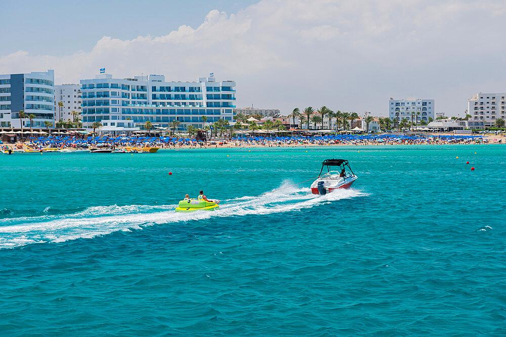 People enjoying watersports on Protaras Beach, Cyprus, Mediterranean, Europe - 1331-43