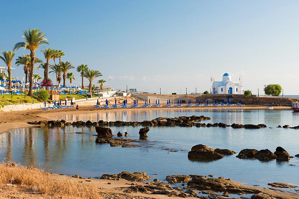 Agios Nikolaos Church, Kalamies Beach, Protaras, Cyprus, Mediterranean, Europe
