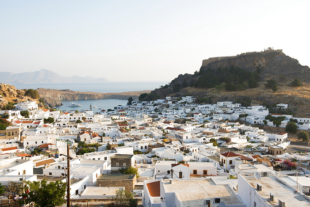 View over Lindos town, Rhodes, Greece