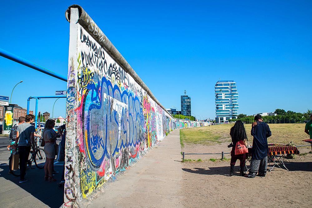 East side gallery street art on Berlin wall by River Spree - 1341-100