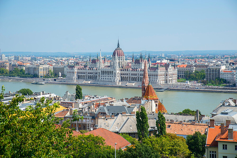 View of Budapest, Danube and parliament buildings from Castle Hill - 1341-107