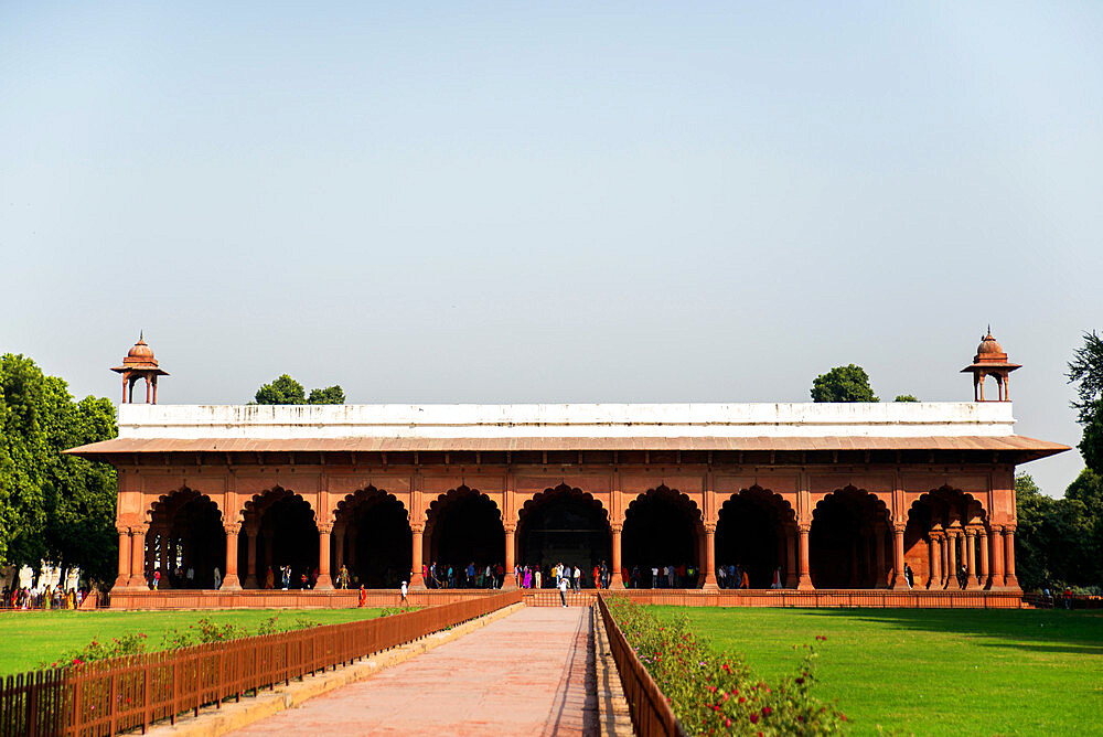 Diwan-i-Aam audience hall, Red Fort, UNESCO World Heritage Site, Delhi, India, Asia - 1341-27