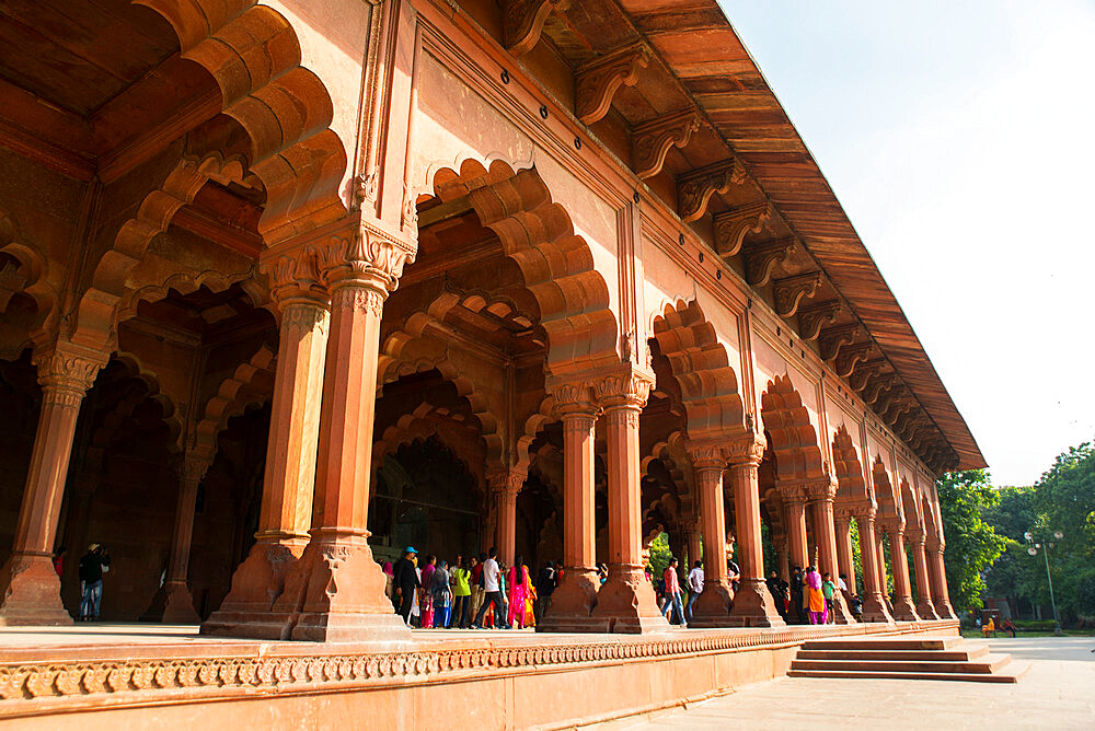 Red Fort, Diwan-i-Aam audience hall, UNESCO World Heritage Site, Delhi, India, Asia - 1341-38