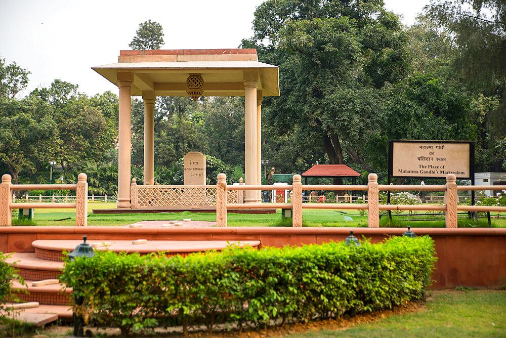Gandhi Smriti, Memorial Museum to Mahatma Gandhi and site of assassination, New Delhi, India, Asia - 1341-77