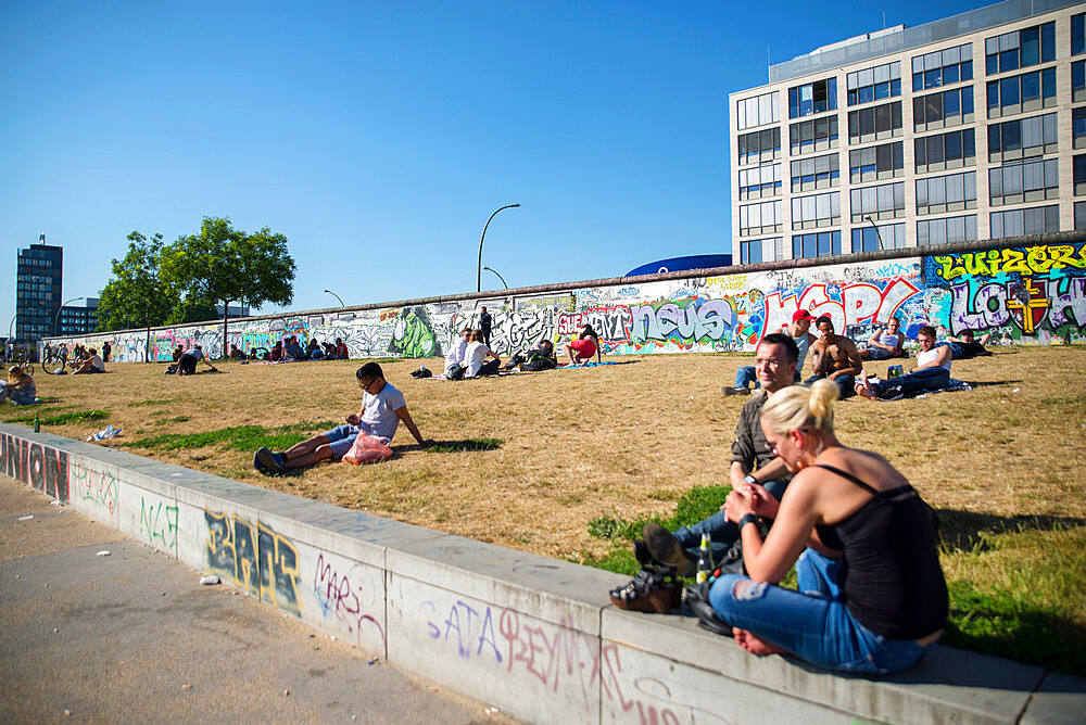 East side gallery street art on Berlin wall by River Spree - 1341-99