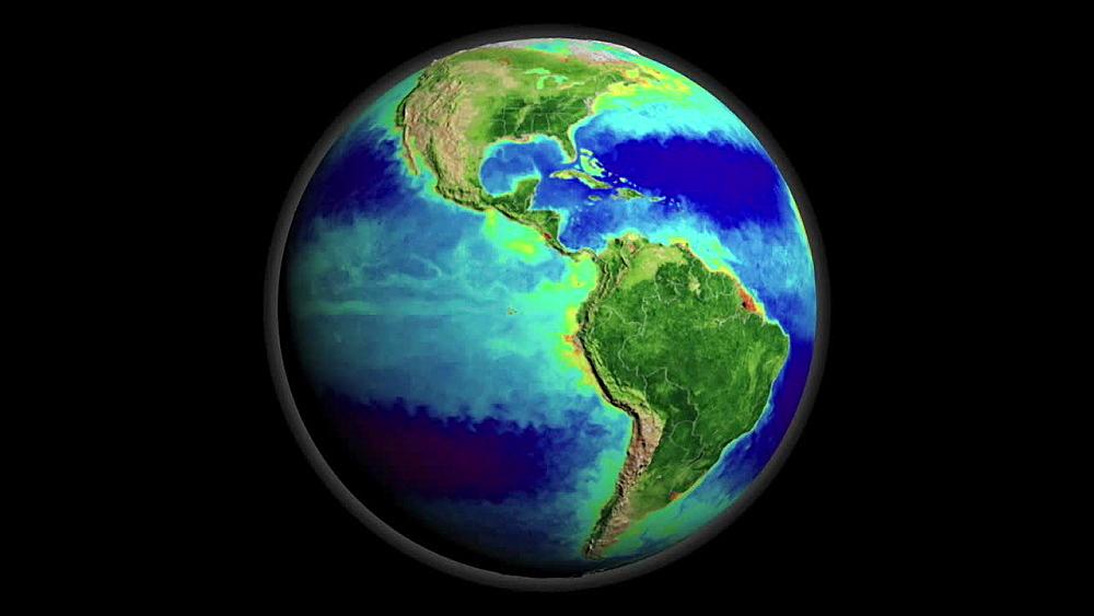SeaWiFS Biosphere Global Rotation