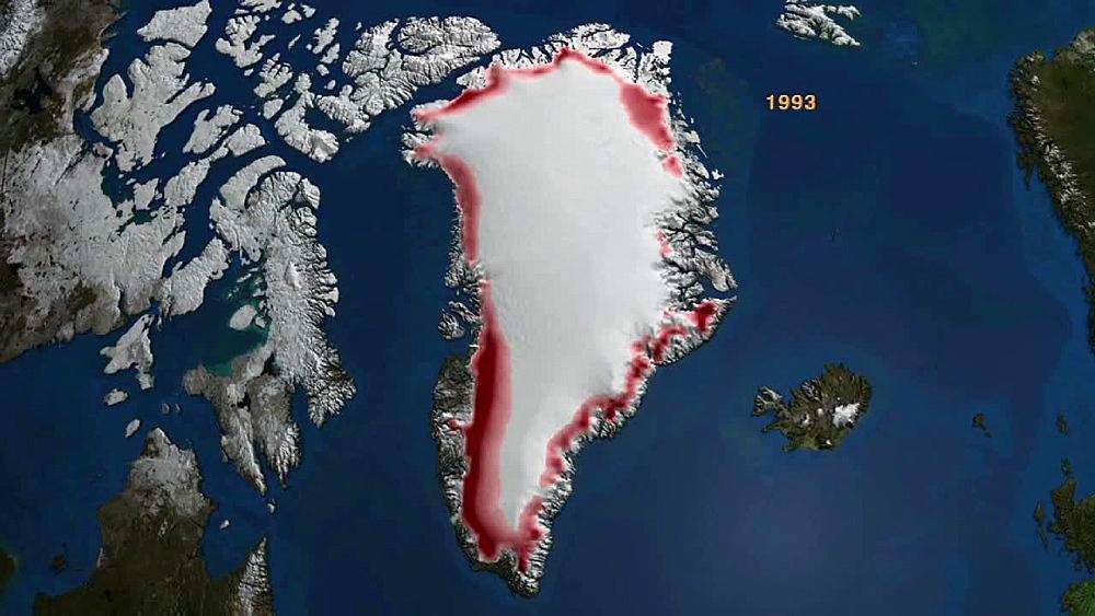 Annual Gradient Melt Greenland 1979-2007