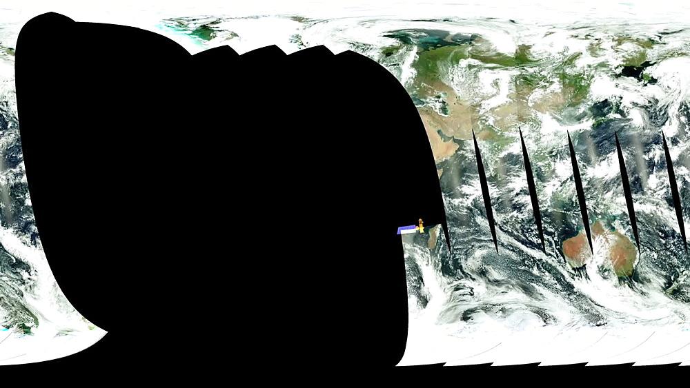 Aqua Satellite Scan Pattern
