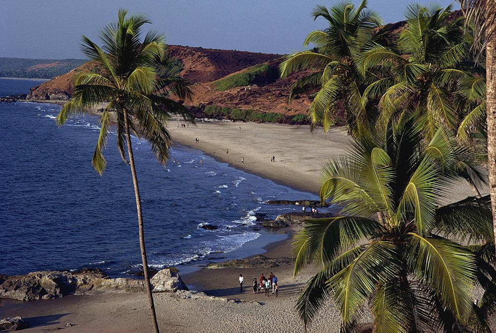 Chapora Fort and beach, Goa, India, Asia - 142-1544