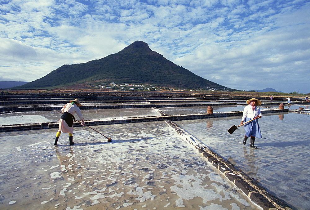 Salt pans, Mauritius, Indian Ocean, Africa - 142-1732