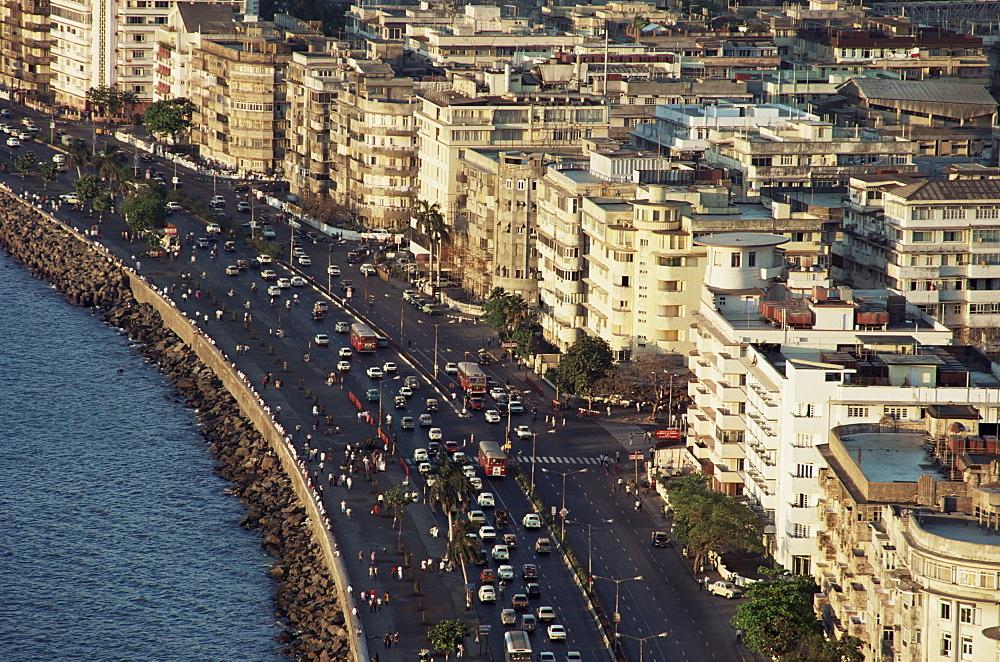 Marine Drive, Bombay City (Mumbai), India, Asia - 142-2772