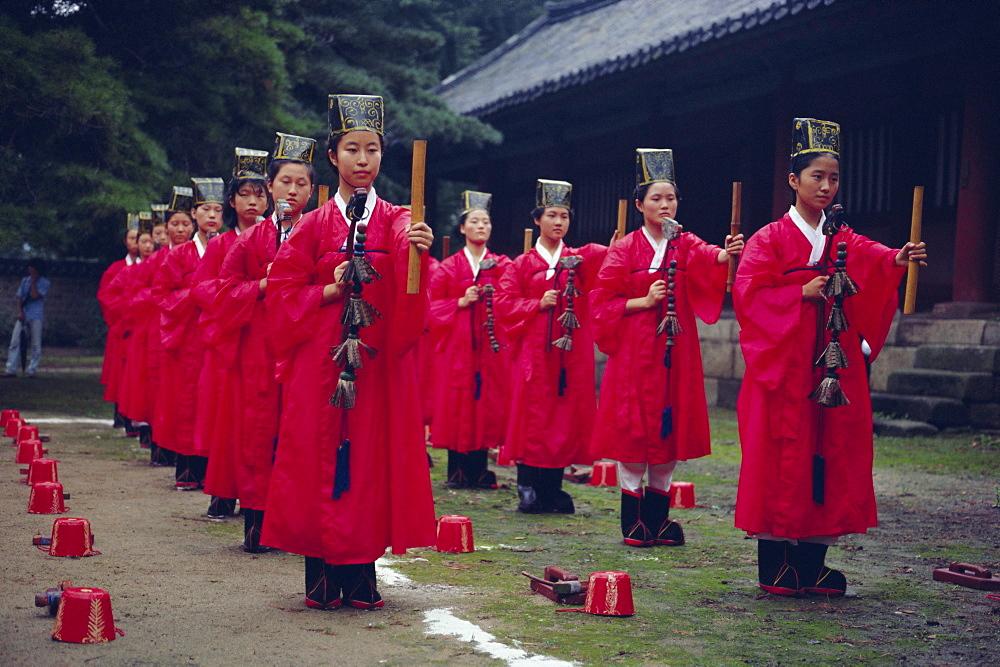 Confucian ceremony, Chonghyo Shrine, Seoul, South Korea, Korea, Asia