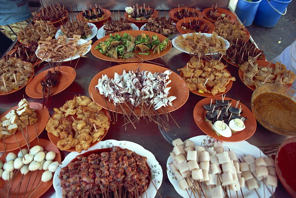 Malay satai barbeque, Malaysia, Southeast Asia, Asia - 142-5701