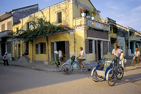 Typical houses, Hoi An, Vietnam, Southeast Asia, Asia