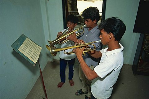 Learning classical music, Music school, Phnom Penh, Cambodia, Indochina, Southeast Asia, Asia - 150-365