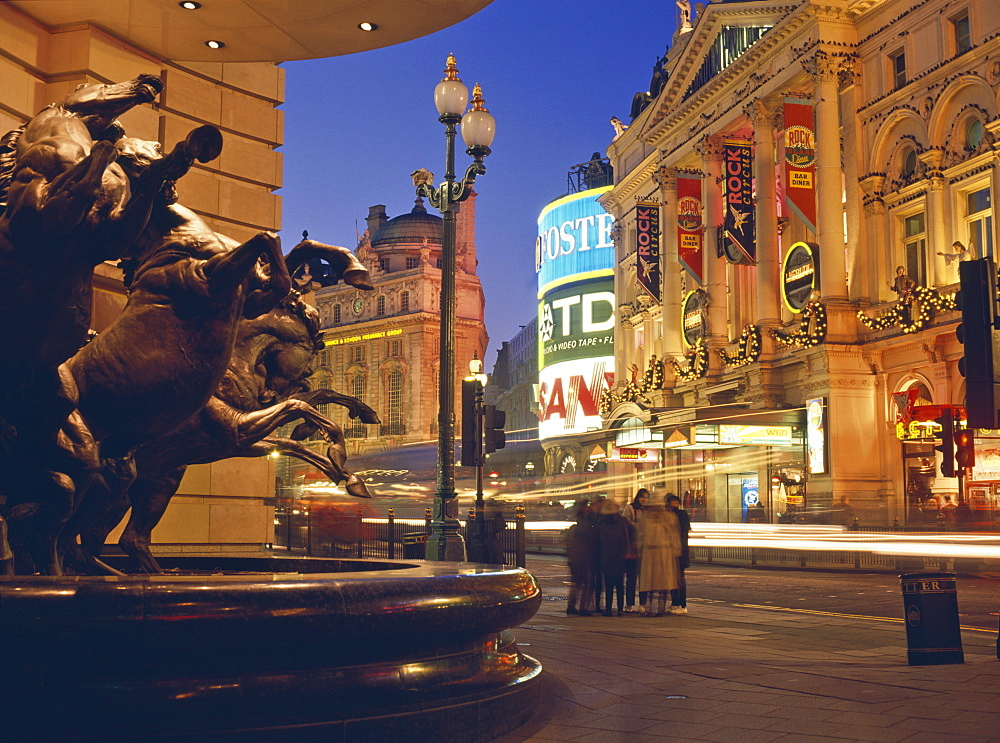 Statue of horses outside the Sogo Japanese department store in Piccadilly, London, England, United Kingdom, Europe - 16-3230