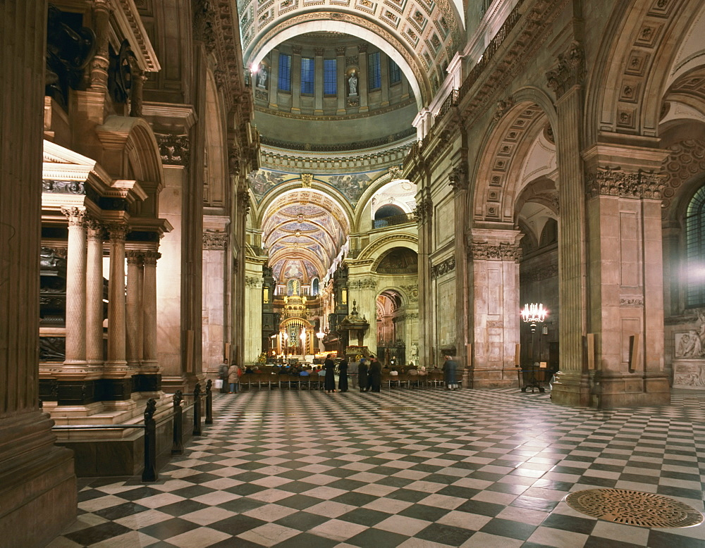 St. Paul's Cathedral nave, London, England, United Kingdom, Europe - 16-3232