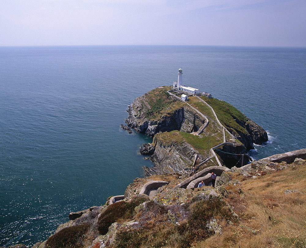 South Stack lighthouse on the western tip of Holy Island, Anglesey, North Wales, Wales, United Kingdom, Europe - 16-3245