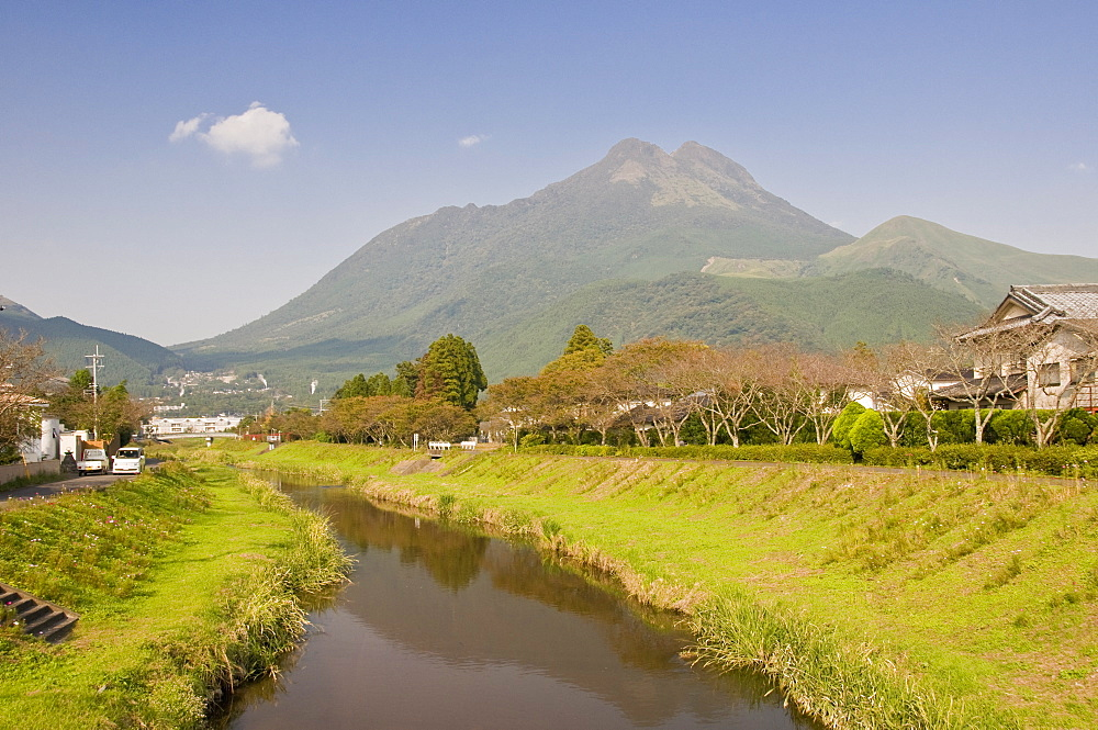 Small river in the centre of Yufuin, Oita, Kyushu, Japan, Asia - 16-3264