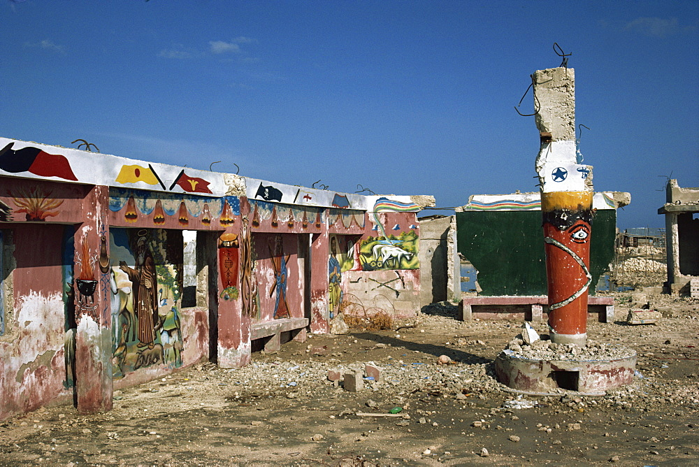Voodoo temple in Port au Prince, Haiti, West Indies, Central America