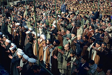 Crowds at Friday Prayers, Tehran, Iran, Middle East