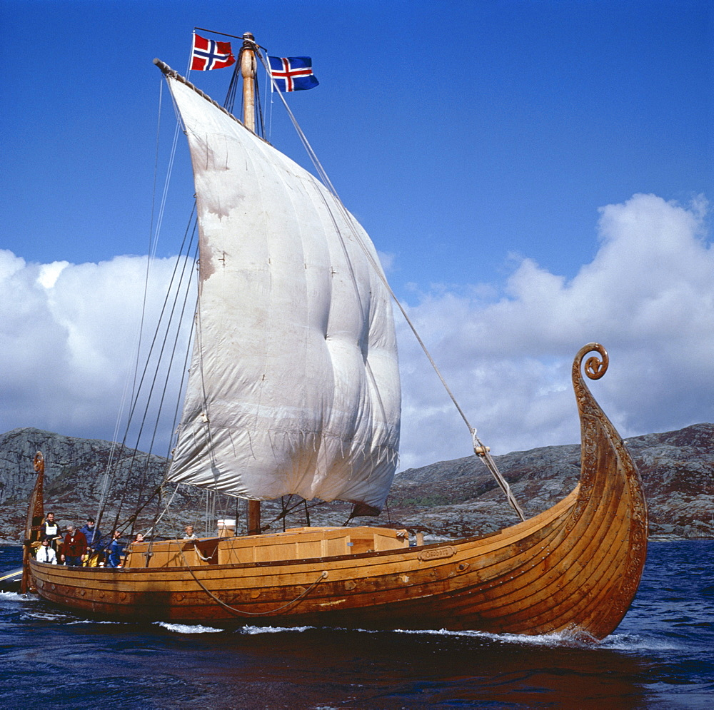 Replica, Oseberg, Viking ship, West Norway, Norway, Scandinavia, Europe
