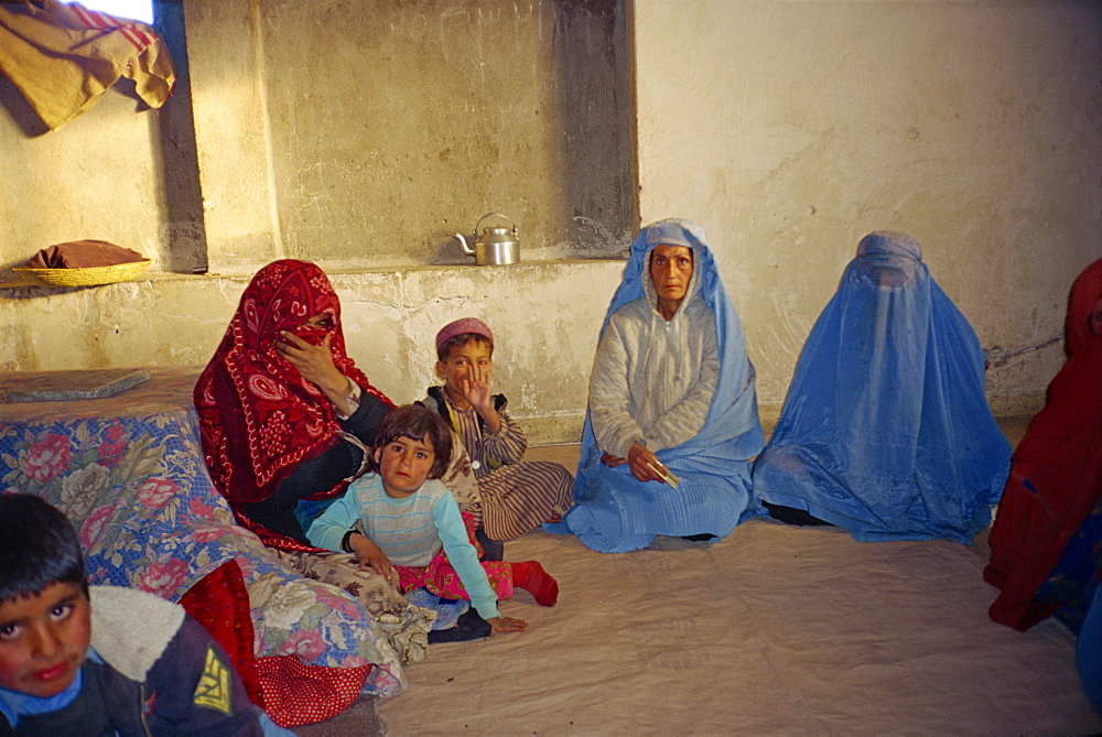 Displaced families in old soviet Embassy, Kabul, Afghanistan, Asia
