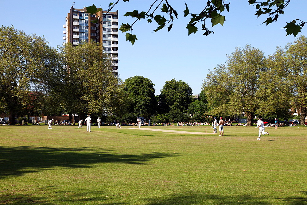 Cricket, London Fields, Hackney, East London, England, United Kingdom, Europe